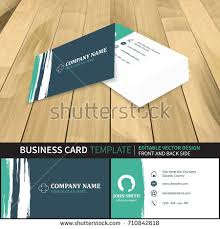 Business Cards Front And Back Business Card Template Flat Design Front Stock Vector 261328076