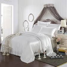 White Silk Bedding Sets 22 Momme 100 Silk Bedding Set Lulusilk