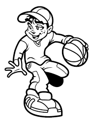 100 basketball black and white clip art images