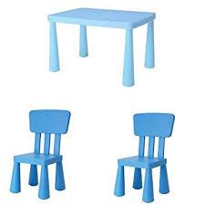 tavolo ikea mammut ikea mammut enfant en bleu 2 chaises et une table fr
