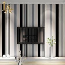 Modern Interior Design Living Room Black And White Aliexpress Com Buy Fashion Black White Grey Vertical Striped