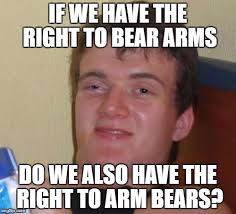 Right To Bear Arms Meme - if we have the right to bear arms do we also have the right to arm