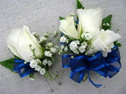 royal blue corsage and boutonniere silk prom corsages and boutonnieres floralshowers boutonnieres