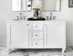 White Double Sink Bathroom Vanities - wholesale 60 inch contemporary basin drawers cabinets pure white