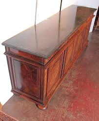 Marble Top Sideboards And Buffets Antique French Walnut Buffet Sideboard With Marble Top At 1stdibs