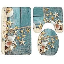 Seashell Bathroom Rug Wondertify Bath Mat Seashells Starfish Sand