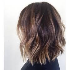 long bob hairstyles brunette summer like tortoise shell wavy bob habitsalon by pinteres