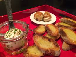 channeling cucina enoteca with burrata and roasted garlic crostini