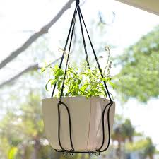 adjustable plant hanger turns almost any pot into a hanging