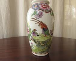 Hand Painted Chinese Vase Made In Macau China Etsy
