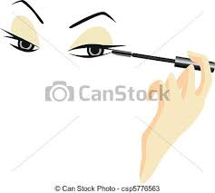 vectors of eyes sketch with make up eyes sketch with makeup