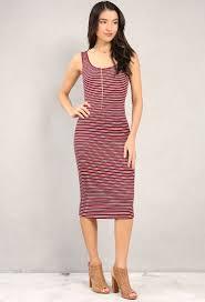 Striped Midi Tank Dress Shop New And Now At Papaya Clothing