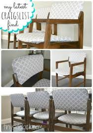 Recovering Dining Room Chairs How To Recover A Parson U0027s Style Chair Furniture Revamp