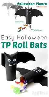 Halloween Paper Towel Roll Crafts Halloween Craft Easy Pinata Goodie Bag Red Ted Art U0027s Blog