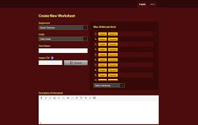 creating english worksheet