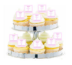 Decoration For First Communion 24pk First Communion Pink Cross Edible Cupcake Decoration Toppers