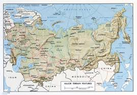 Terrain Map Large Scale Terrain Map Of The Ussr 1968 U S S R Europe