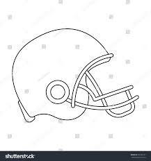 american football helmet icon outline style stock vector 529185151