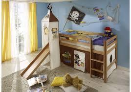 bett mit rutsche hochbett pirat 90 x 200 cm buche massiv inkl rutsche und vorhang