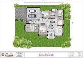 Breeze House Floor Plan by The Sea Breeze Bella Qld Properties