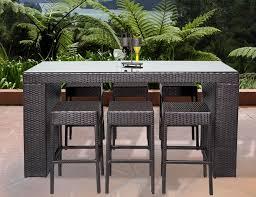 Patio High Dining Set Tk Classics Napa 7 Bar Height Dining Set Reviews Wayfair