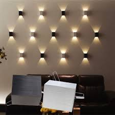 wall light fixtures bedroom with 3w led square lamp hall porch