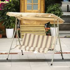 ikayaa 3 person seater patio canopy swing glider hammock sales