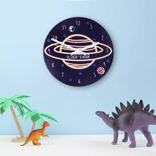 Childrens Bedroom Wall Clocks Out Of This World Personalised Space Wall Clock Childrens Decor