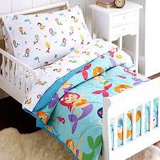 Olive Bedding Sets Olive Mermaids 4 Toddler Bedding Set In Blue Buybuy Baby