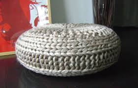 knitting pattern knitted extra large pouf pattern poof knitting