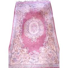 vintage persian wool rug 4 u0027x3 u0027 soft muted mauve u0026 blue from renee