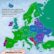 map of all the countries in europe european countries where 40 population moved abroad daily