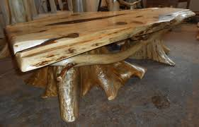 rustic tree stump coffee table home decorations surprising