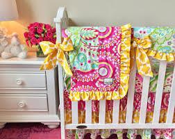 Bright Crib Bedding Nursery Bedding Etsy