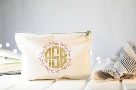 bridal makeup bags monogram makeup bag bridesmaid cosmetic bag bridal makeup bag