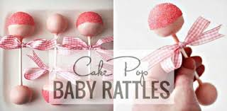 baby rattle cake pops cake pop baby rattles ideal for baby shower the whoot