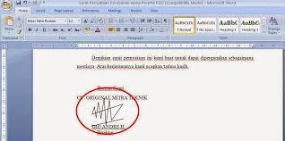membuat tanda tangan digital gratis cara membuat memasang tanda tangan digital pada ms word atau excel