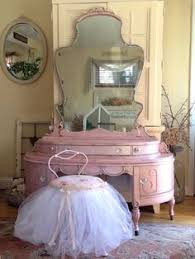Shabby Chic Vanity Chair Creamy White Distressed Antique Shabby Chic Cottage Depression