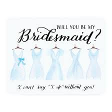 bridesmaid invitation card blue will you be my bridesmaid invitation invitations 4 u