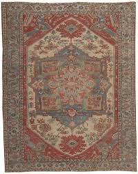 Red And Blue Persian Rug by Persian Tribal Antique Heriz Serapi Rug 44537 Nazmiyal