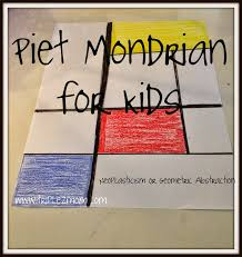 piet mondrian for kids crafts for lazy parents triplezmom not