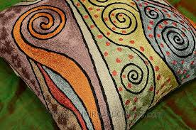 cushion covers for sofa pillows klimt accent pillow cover rainbow handembroidered kashmir fine