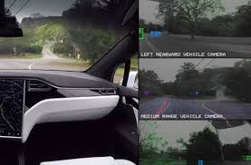 tesla windshield what tesla u0027s self driving car sees when it drives video