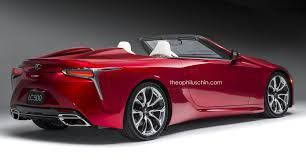 future lexus cars lexus lc 500 convertible digital rendering and future variants
