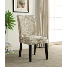 Parson Dining Chair 4d Concepts Itaki Taupe And Ivory Parsons Dining Chair 773021