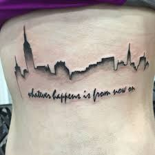 20 magnificent skyline tattoos skyline tattoo tattoo and tatting