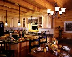 log home kitchen design picture on simple home designing