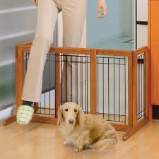 Child Gates For Stairs Amazon Com Richell Wood Freestanding Pet Gate Large Autumn