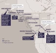 Canadian Rockies Map Alaska And The Canadian Rockies Railbookers