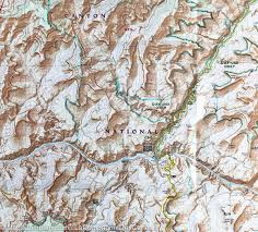 Map Of Grand Canyon Trail Map Of Grand Canyon National Park Bright Angel Canyon